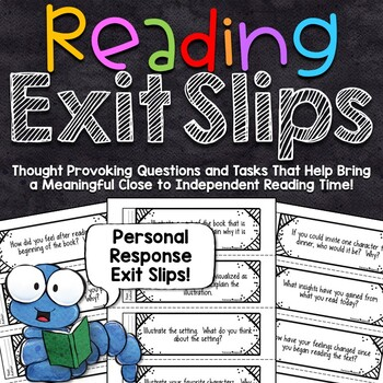 Reading Exit Slips - Personal Response