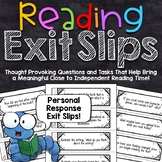 Reading Exit Slips | Personal Response