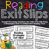 Reading Exit Slips | Reading Strategies