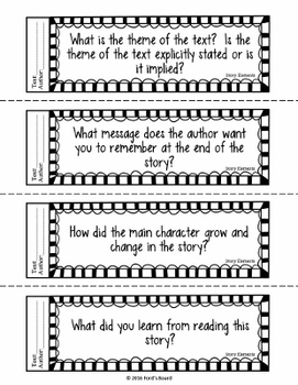 Reading Exit Slips - Story Elements