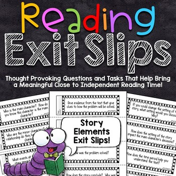 Reading Exit Slips | Story Elements