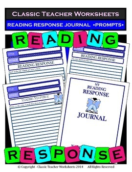 Reading Response - Reading Response Journal Prompts - Grades 4, 5, 6/Jr. High