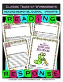 Reading Response - Reading Response Journal Prompts - Kindergarten to Grade 2