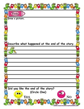 Reading Response - Reading Response Journal Prompts - Kindergarten to Grade 2