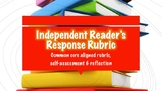 Reading Response Rubric Common Core Student Self-Assessment Reflection