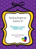 Reading Response Rubrics  #1