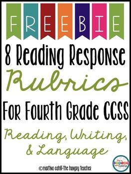 Reading Response Rubrics 4th Grade {Freebie}