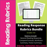 Reading Response Rubrics Bundle- Common Core- 4th, 5th, 6th, 7th, 8th