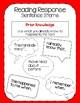 Reading Response Sentence Stems