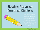 Reading Response Sentence Stems