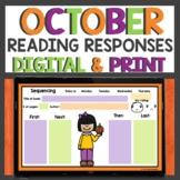 October Reading Response Sheets