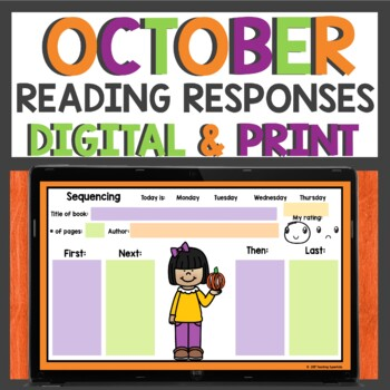 Reading Response sheets for October