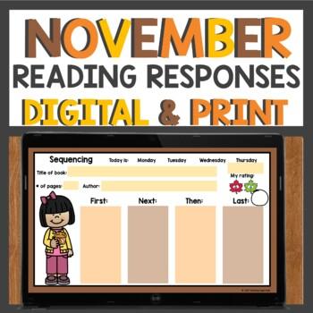Reading Response Sheets for November