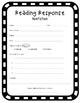 Reading Response Sheets