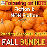 Reading Response Sheets Bundle (HOTS): Fall Edition No Prep!