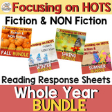Reading Response Sheets Bundle (HOTS): For the Whole Year!