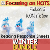 Reading Response Sheets Bundle (HOTS): WINTER Edition NO Prep