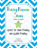 Reading Response Sheets (Common Core Aligned): For Homewor