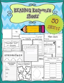 Reading Response Sheets: Comprehension Building Story Maps