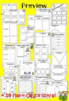 Reading Response Sheets for Any Book (30 Graphic Organizers)