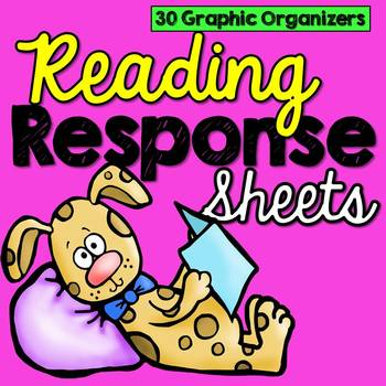 Reading Response Sheets for Any Book (30 Graphic Organizers) #ausbts18