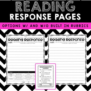 Reading Response Sheets with Prompts & Rubrics