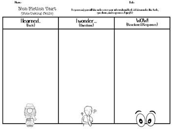 Reading Response Sheets - Non-Fiction/Fiction