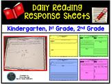 Reading Response Sheets Primary Grades: Kindergarten, 1st Grade, 2nd Grade