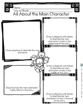 Reading Response Sheets and Graphic Organizers for Fictional Text