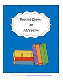 Reading Response Sheets & Graphic Organizers for ANY Novel