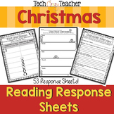 Reading Response Sheets for Christmas (HOTS)