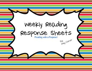 Reading Response Sheets for Elementary Grades