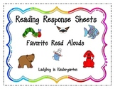 Reading Response Sheets for Favorite Read Alouds