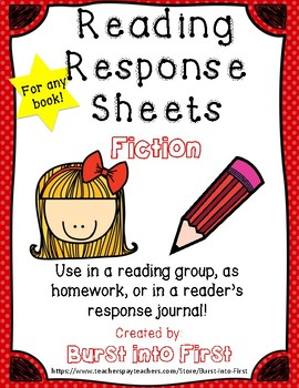Reading Response Sheets for Fiction