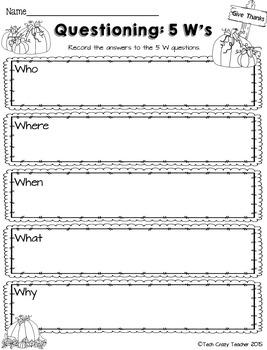 Reading Response Sheets for NONFICTION (HOTS): Fall Edition No Prep