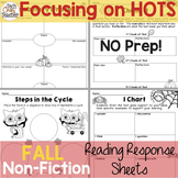 Reading Response Sheets for NONFICTION (HOTS): Fall Editio