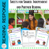 Reading Response Sheets for Reading Stations and Shared Reading