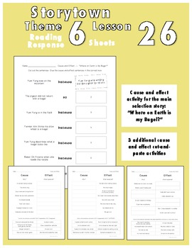 Reading Response Sheets for Storytown Theme 6 Week 26