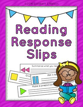 Reading Response Slips