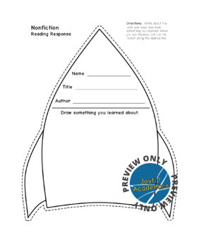 Reading Response Sheets for Any Book - Space Bundle