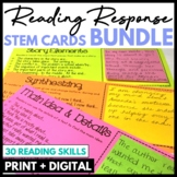 Reading Response Stem Cards BUNDLE