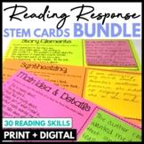 Reading Response Stem Cards BUNDLE