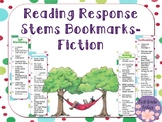 Reading Response Stems Bookmarks Fiction