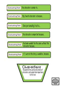 Reading Response Stick Cards- Fun Creatives