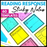Reading Response Graphic Organizer Sticky Note Templates