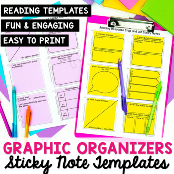 Reading Response: Stop and Jot Sticky Note Template