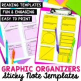 Reading Graphic Organizer Sticky Notes