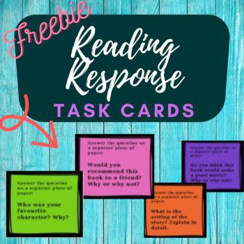 Reading Response Task Card Freebies