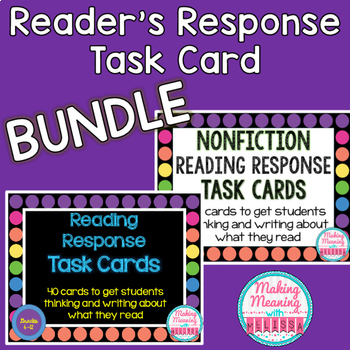 Reading Response Task Cards BUNDLE (FICTION and NONFICTION) for Secondary