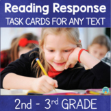 Reading Response Task Cards 2nd 3rd Grade
